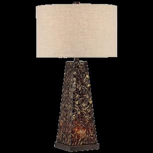 Possini Euro Design Lorin Mosaic Tile Nightlight Table Lamp