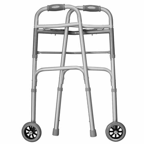 Ez2care Deluxe Two Button Folding Walker