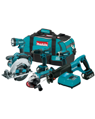 Makita LXT601 LXT 6-Piece Lithium-Ion Cordless Combo Kit