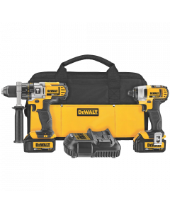 DEWALT DCK290L2 Hammer Drill and Impact Driver Combo Kit