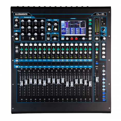 Allen and Heath Qu 16 Digital Mixer, Chrome Edition