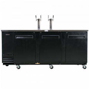 Turbo Air TBD-4SB Black 90- Beer Dispenser - 4 Kegs