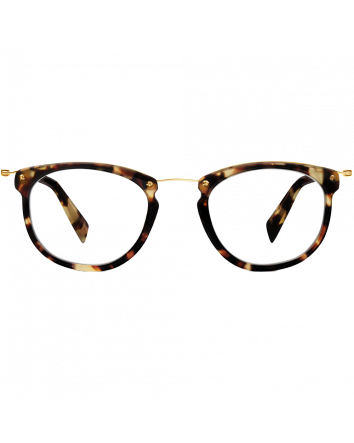 Moriarty Eyeglasses in Burnt Lemon Tortoise