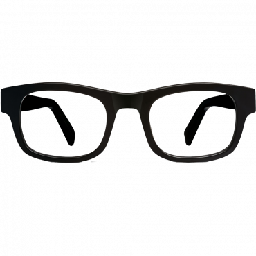 Huxley Eyeglasses in Jet Black for Men