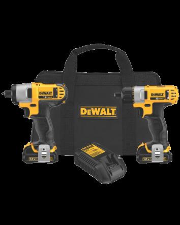 DEWALT DCK210S2 12-Volt Max Screwdriver-Impact Driver Combo Kit