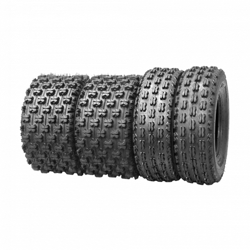 Set of 4 New Sport ATV Tires 21x7 10 Front & 20x11 9 Rear