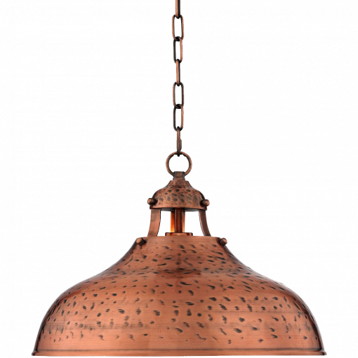Essex 16  Wide Dyed Copper Metal Pendant Light