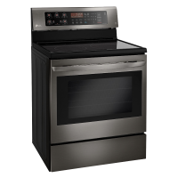 LG Black Stainless Steel Series 6.3 cu. ft. Capacity Electric Single Oven Range