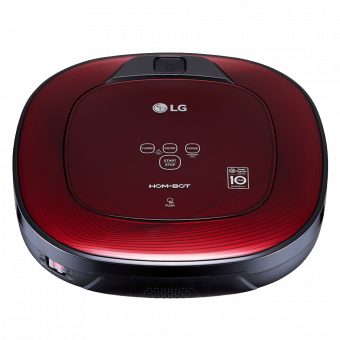 Lg Hom bot Square Robotic Wi fi Enabled Vacuum, Red