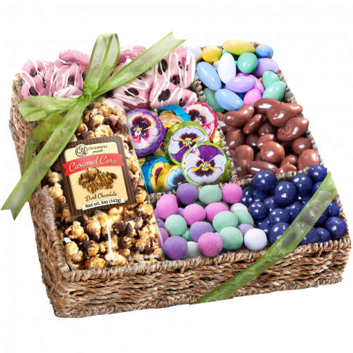 Spring Chocolate, Sweets, and Treats Gift Basket