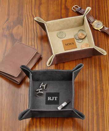 Leather Valet Catchall