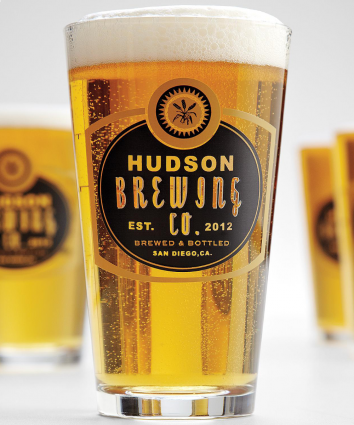 Personalized Barley Pub Glasses