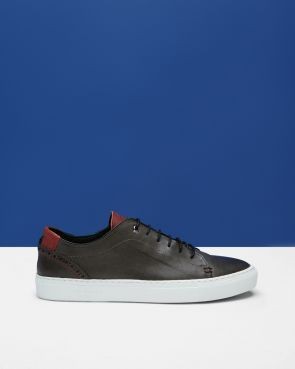 KIING Leather brogue trainers