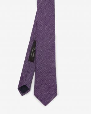 KLOUDE Linen and silk-blend tie