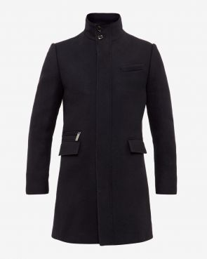 UPLOG Funnel neck overcoat