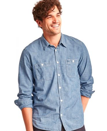 1969 icon worker chambray shirt