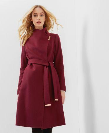 FYLIO Long wrap coat